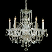 Willa Arlo Interiors Caledonian 5-Light Crystal Chandelier; Polished Brass