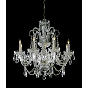 Willa Arlo Interiors Careen 8-Light Crystal Chandelier; Polished Brass