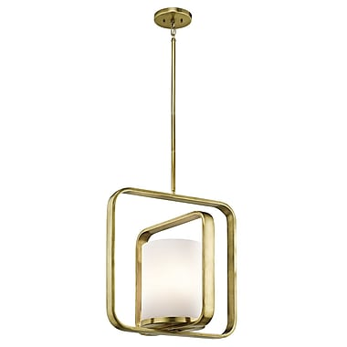 Willa Arlo Interiors Cheetham 1-Light Pendant; Natural Brass