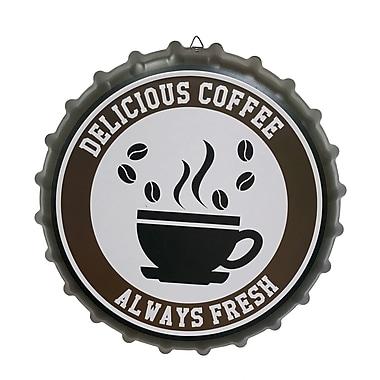 Winston Porter Contemporary Metal Cap Sign w/ Coffee Wall D cor