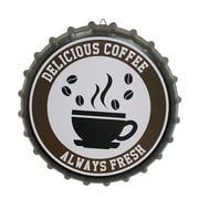Winston Porter Contemporary Metal Cap Sign w/ Coffee Wall D cor