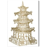 Bloomsbury Market 'Pagoda Gold' Graphic Art Print on Canvas; 81'' H x 54'' W x 2'' D