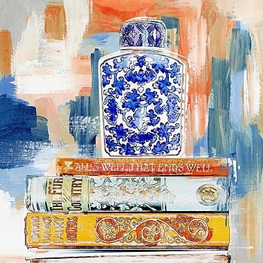 Bloomsbury Market 'Vintage Collection Books' Painting Print on Canvas; 12'' H x 12'' W x 1.5'' D