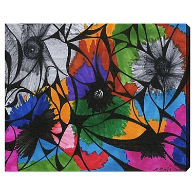 Bloomsbury Market 'Summer Bloom' Painting Print on Wrapped Canvas; 24'' H x 30'' W x 1.5'' D