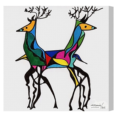 Bloomsbury Market 'Be Deer' Painting Print on Wrapped Canvas; 36'' H x 36'' W x 1.5'' D