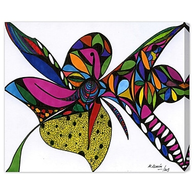 Bloomsbury Market 'Wild Orchid' Painting Print on Wrapped Canvas; 16'' H x 20'' W x 1.5'' D