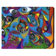 Bloomsbury Market 'Eye See You' Painting Print on Wrapped Canvas; 20'' H x 24'' W x 1.5'' D