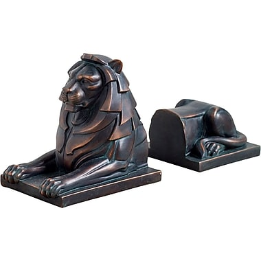 Bloomsbury Market Animals Ceramic Book Ends (Set of 2); Weathered Bronze