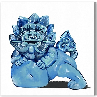 Bloomsbury Market 'Foo Dog' Painting Print on Canvas; 43'' H x 43'' W x 1.5'' D
