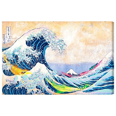 Bloomsbury Market 'SAI - Colorful Wave' Painting Print on Canvas; 20'' H x 30'' W x 1.5'' D