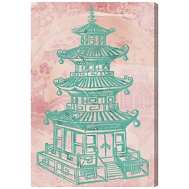 Bloomsbury Market 'Pagoda Rose' Graphic Art Print on Canvas; 81'' H x 54'' W x 2'' D