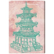 Bloomsbury Market 'Pagoda Rose' Graphic Art Print on Canvas; 45'' H x 30'' W x 1.5'' D
