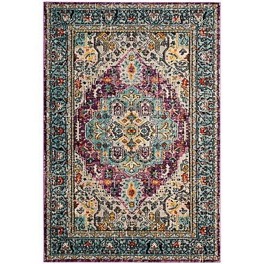 Bloomsbury Market Hackmore Violet/Light Blue Area Rug; 5'1'' x 7'7''