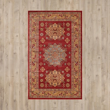 Bloomsbury Market Jana Red/Brown Area Rug; 9' x 12'