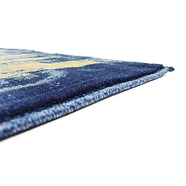 Bloomsbury Market Jani Traditional Beige/Blue Abstract Area Rug; 4' x 6'