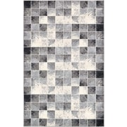 Bloomsbury Market Jaina Light Gray Geometric Area Rug; 5' x 8'