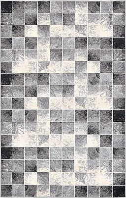 Bloomsbury Market Jaina Light Gray Geometric Area Rug; 5' x 8'