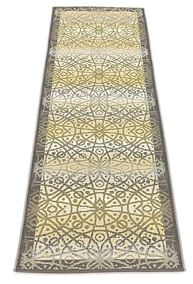 Bloomsbury Market Jamie Traditional Beige Indoor/Outdoor Area Rug; Runner 2' x 6'