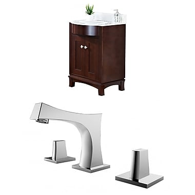 Darby Home Co Kester Transitional 24'' Multi-layer Stain Single Bathroom Vanity Set; White