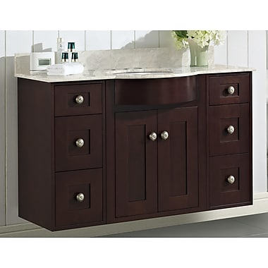 Darby Home Co Kester Transitional 48'' Rectangle Wood Single Bathroom Vanity Set; 4'' Center