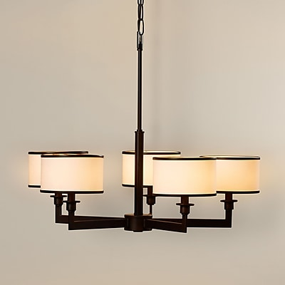 Darby Home Co Darcia 5-Light Drum Chandelier; Oil Rubbed Bronze