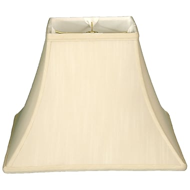 Darby Home Co 14'' Silk/Shantung Square Bell Lamp Shade; Eggshell