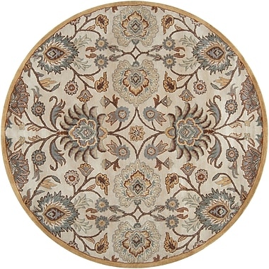 Darby Home Co Ferrer Hand-Tufted Ivory Area Rug; Round 8'