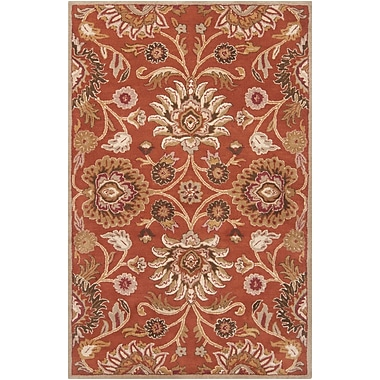 Darby Home Co Ferrer Hand-Tufted Rust Area Rug; 3'6'' x 5'6''