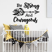 Decal House Be Strong and Courageous Wall Decal; lime Tree Green