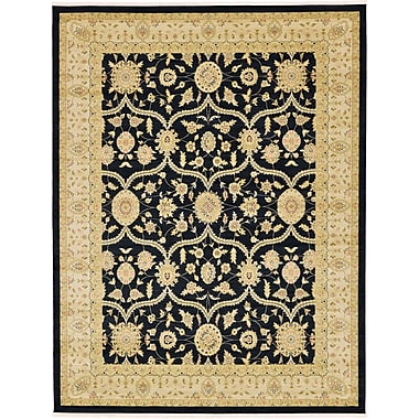 Bloomsbury Market Jamar Traditional Black Oriental Area Rug; 9' x 12'