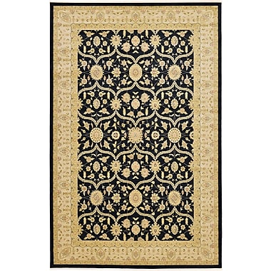 Bloomsbury Market Jamar Traditional Black Oriental Area Rug; Runner 2'7'' x 10'