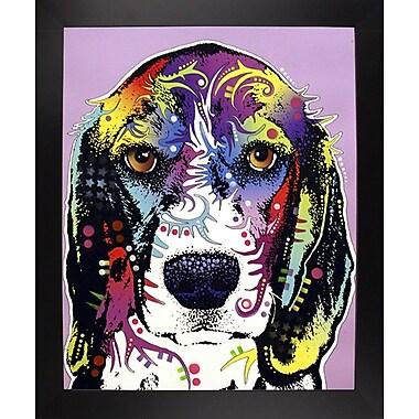 East Urban Home '4 Beagle' Graphic Art Print; Black Large Framed