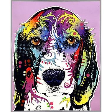 East Urban Home '4 Beagle' Graphic Art Print; White Metal Framed