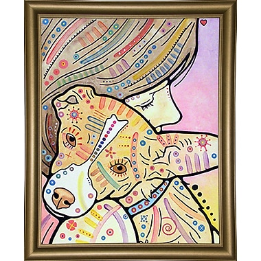 East Urban Home 'Pixie' Graphic Art Print; Bistro Gold Framed