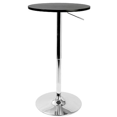 Ebern Designs Coveney Adjustable Pub Table; Black