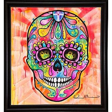East Urban Home 'Sugar Skull - Day of the Dead' Graphic Art Print; Bistro Espresso Framed