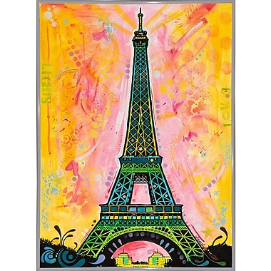 East Urban Home 'Eiffel ALI' Graphic Art Print; White Metal Framed