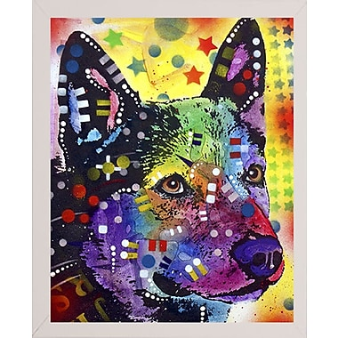 East Urban Home 'Aus Cattle Dog' Graphic Art Print; White Medium Framed