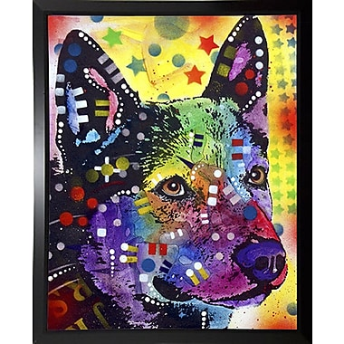 East Urban Home 'Aus Cattle Dog' Graphic Art Print; Budget Saver Framed