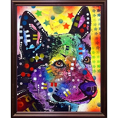 East Urban Home 'Aus Cattle Dog' Graphic Art Print; Cherry Grande Framed