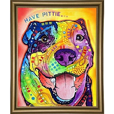 East Urban Home 'Have Pittie' Graphic Art Print; Bistro Gold Framed