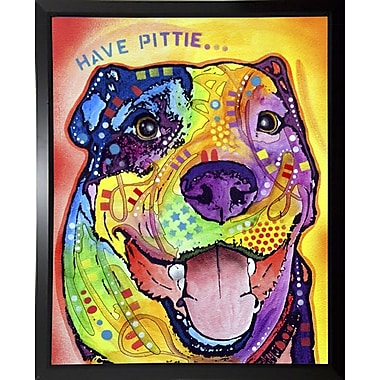 East Urban Home 'Have Pittie' Graphic Art Print; Budget Saver Framed