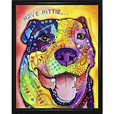 East Urban Home 'Have Pittie' Graphic Art Print; Flat Black Metal Framed