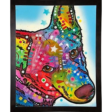 East Urban Home 'Aussie Sheep Dog' Graphic Art Print; Cafe Espresso Framed