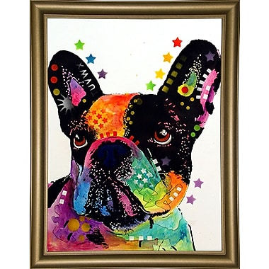 East Urban Home 'French Bulldog' Graphic Art Print; Bistro Gold Framed