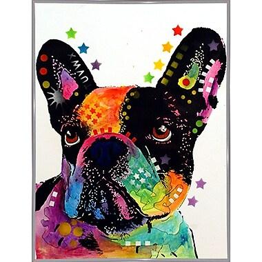 East Urban Home 'French Bulldog' Graphic Art Print; White Metal Framed