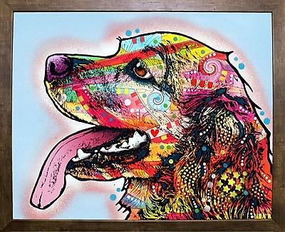 East Urban Home 'Cocker Spaniel' Graphic Art Print; Cafe Mocha Framed