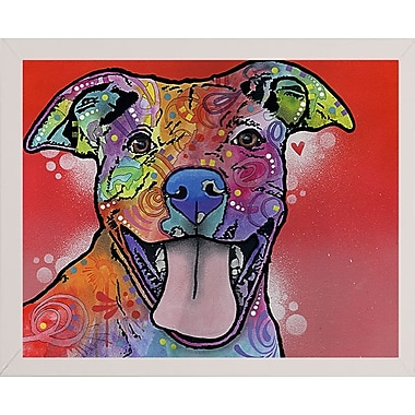 East Urban Home 'Atticus' Graphic Art Print; White Medium Framed
