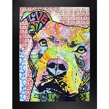 East Urban Home 'Thoughtful Pit Bull This Years Love 2013 Part 1' Graphic Art Print