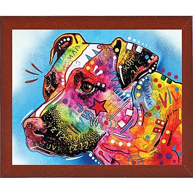 East Urban Home 'Pit Bull 1059' Graphic Art Print; Red Mahogany Medium Framed